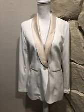 BKE Buckle Daytrip  blazer jacket Large Cream With Gold Lining Detailing On Back