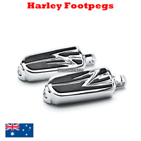 Chrome Harley male foot peg footpegs rest Dyna softail sporstster vrod road king