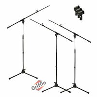 Microphone Boom Stand 3 PACK - GRIFFIN Telescoping Boom Tripod Studio Stage Mic