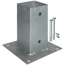 Aufschraubhülse 71x71 mm  mit 2 Schrauben Pfostenträger für Kantholz 7x7 cm