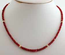 NATURAL ruby necklace Precious Stone Faceted Red Pretty
