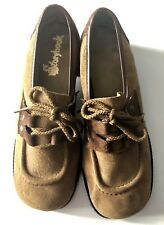 Vintage StoryBook Girls Size 2.5 D Lace Up Low Heel Brown Leather Oxfords Shoes