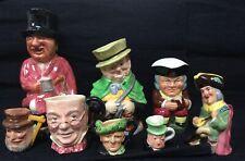More details for collection of 8 x character jugs shorter, burleigh, keloboro, lancaster sandland