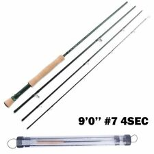 Graphite Fly Fishing Rod Hand Chrome Guide Hard Type Medium Fast Action Gear New