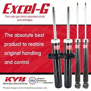 Front + Rear KYB EXCEL-G Gas-Filled Shock Absorbers for AUDI A4 B8 AWD FWD