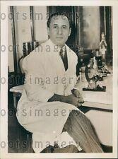 1936 Bacteriologist Doctor Harry Plotz Press Photo