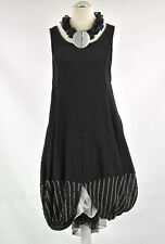 STUNNING BLACK & TAUPE TULIP SHAPE DRESS BY GERSHON BRAM SIZE S/M  SALE