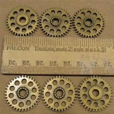 "1"" Gears 6 Pieces Lot New Steampunk Watch Parts Antiqued Brass Clock Cogs Wheel"