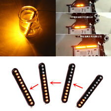 Mini Sequential Flowing Motorcycle LED License Plate Strips Turn Signal Light 2x