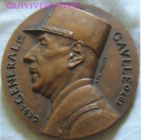 MED11060 - MEDAILLE MEMORIAL DU GENERAL DE GAULLE 18 JUIN 1972 par DE JAEGER