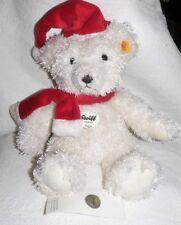 Steiff Teddybär Edgar für Kaufhof Weihnachtsteddy 30 cm weiß Mütze Schal 111723