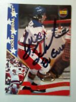 1995 Signature Rookies #29 BUZZ SCHNEIDER Signed Miracle On Ice