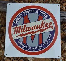 MILWAUKEE QUALITY PORTABLE TOOLS SIGN SawZall PowerToolLogo Workshop Advertising