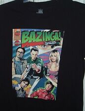 The Big Bang Theory Bazinga Destroy With Mind Bullets TV Show Black T-shirt S