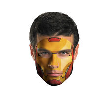 Disguise Iron Man Tattoo Face Mask, Green - 11622