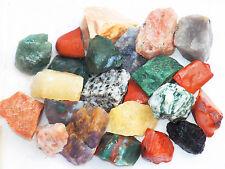 """1 LB INDIA MIX  1""""+ Bulk Rough Tumbling Rock Sunstone Bloodstone 2200+ CARATS"""