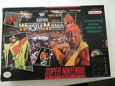 WWF Super WrestleMania  (Super Nintendo SNES 1992) COMPLETE w/ Box manual POSTER