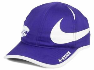 KANSAS STATE WILDCATS NCAA NIKE Big Swoosh Featherlight Dri Fit Running Hat NWT
