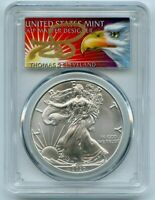 2020 ASE $1 PCGS MS70 FS 1 of 1000 Thomas Cleveland Eagle Label 1oz Silver Coin