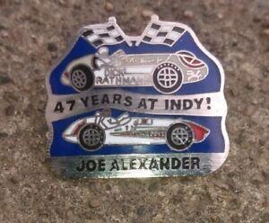 JOE ALEXANDER 47 YEARS AT INDY INDIANAPOLIS 500 CAR LAPEL PIN DICK RATHMANN FOYT