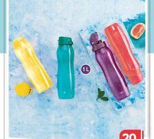 Tupperware Slim Aqua Safe 1 Litre flip top Bottles -1000 ML - Set of 4