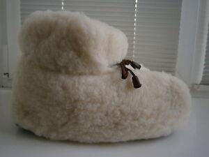 Super Warm Genuine Lambswool Soft Comfy Slipper Boots Winter Footwear Mens Sizes