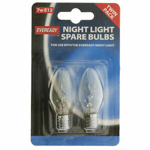 2 PACK 7 WATT E12 SCREW FITTING PYGMY CHILDRENS SAFTEY NIGHT LIGHT LAMP BULB