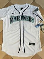 NWT Men's Seattle Mariners Ken Griffey Jr Authentic Nike Throwback Jersey L