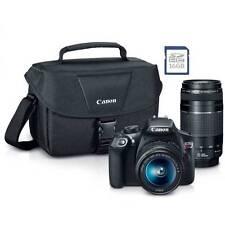 New Canon Rebel T6 SLR Camera Premium Kit w/ 2Lens 18-55& 75-300mm, bag, SD Card