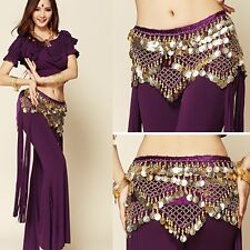 New Belly Dance Hip Scarf coins Fringe Tassel Belt&Copper Coins Hip skirt belt