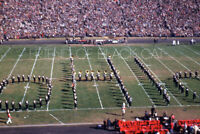 Kodak Slide 1950s Red Border Kodachrome Football Marching Band Spelling Ohio