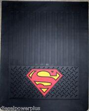 superman logo rig semi tractor trailer peterbilt kw truck mud flaps 24x30 comic