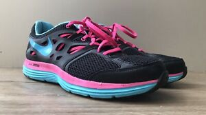 Womens Nike Dual Fusion Lite Running shoes size 7.5 EU 42 black & pink