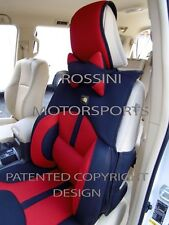 i - TO FIT A TOYOTA HILUX, CAR SEAT COVERS, BO-1 RED RECARO MESH