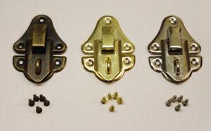 10 Fermoir Boite , Verrou Serrure , Boite à bijoux , Loquet , Coquillage 3 Choix