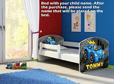 Children Kids Bed Mattress Delivery Toddler 60 Designs 04. Blue Car Yes 160x80