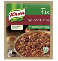 12 x KNORR FIX CHILI CON CARNE - GERMAN COOKING - ORIGINAL FROM GERMANY