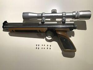 Crosman Crossman 1377 with Scope. Air Pistol.  .177 BB's and Pellets - Vintage.