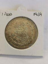 MEXICO 1 PESO 1959, Silver