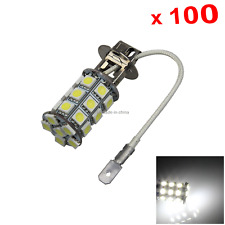 100x White RV H3 Fog Blub Tail Lamp 27 Emitters 5050 SMD LED PK22s/r H055