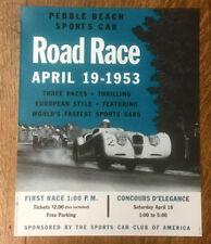 Pebble Beach Road Race Poster, 1953