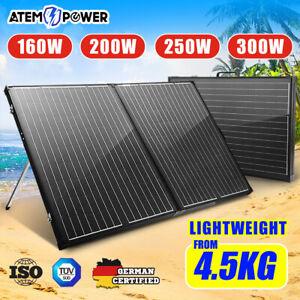 12V 160W 200W 250W 300W Folding Solar Panel Kit Lightweight Caravan Camping