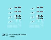 K4 N Decals SLSF Frisco Caboose White