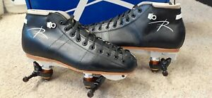Riedell Roller Skates 495   Leather Boots  Powerdyne Neo Reactor Plate Size 9.5