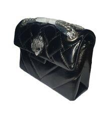 🎄🎁 Kurt Geiger Black Patent Leather Mini Kensington Bag £159 Quilted 🎁🎄