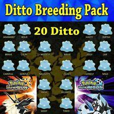 Ultra Pokemon Sun and Moon 6IV Shiny Japanese Ditto Breeding Pack 20 Natures
