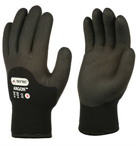 1 x Pair Skytec Grip Gloves Thermal Insulated HPT Cold Flexi to -50C Work(Argon)