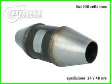 catalizzatore sportivo 100 celle kat metallico acciaio universale tuning auto