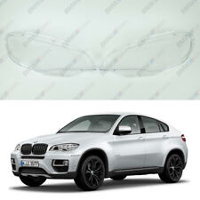 BMW X6 E71 / X5 M OEM Headlight Glass Headlamp Lens Plastic Cover (PAIR)