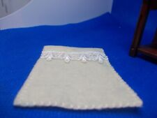 SMALL EMBROIDERED FLEECE BLANKET    FOR A DOLLS HOUSE